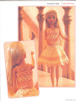Barbie Blusa e Saia de Crochê Com Gráficos - Revista Mucho Más En Vestiditos a Ganchillo