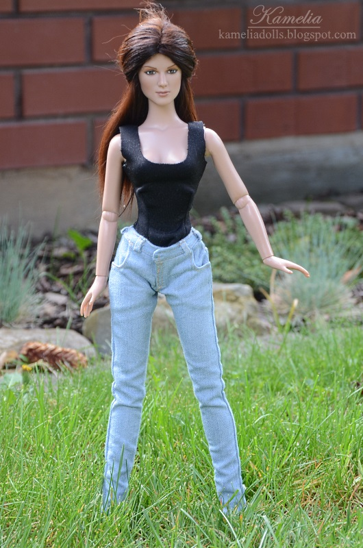Handmade realistic jeans for Tonner Tyler body doll