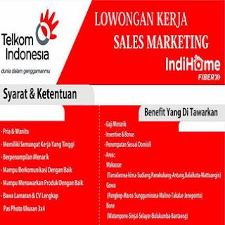 Lowongan Kerja Sales Marketing IndiHome Fiber