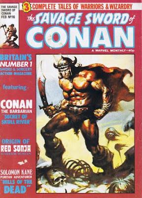Marvel UK, Savage Sword of Conan #16, origin of red sonja