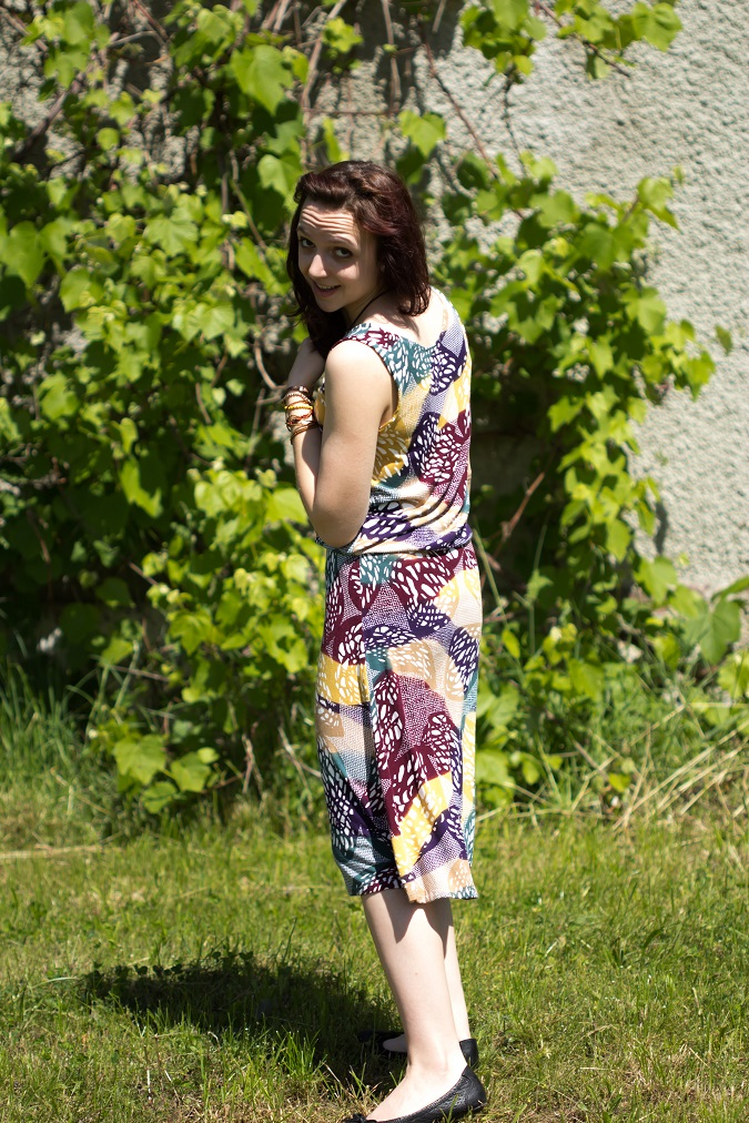 Jersey Kleid Burda Schnitt nähen