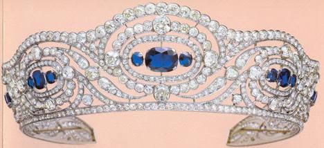 Sapphire Tiara Chaumet Princess Alicia Duchess Calabria Bourbon Two Sicilies