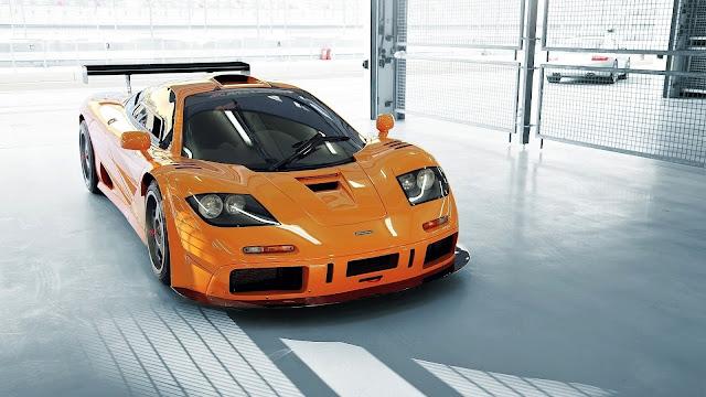 Carro laranja da McLaren carro de luxo foto novo