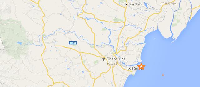 Vị trí dự án FLC Sầm Sơn