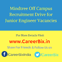 Mindtree Off Campus Recruitment Drive for Junior Engineer Vacancies