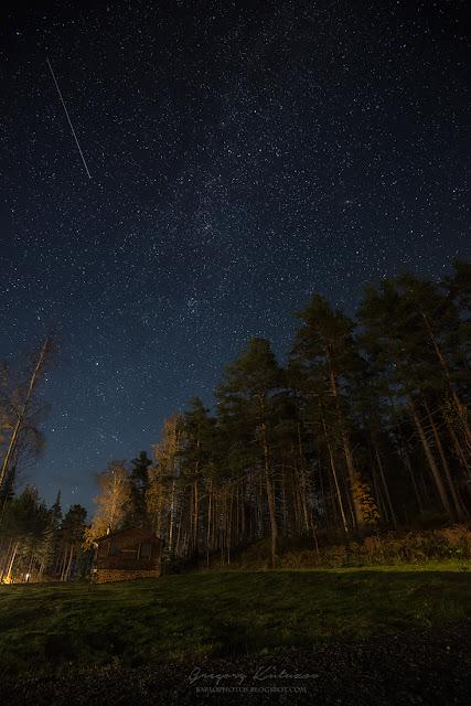 Карелия. Звездное небо