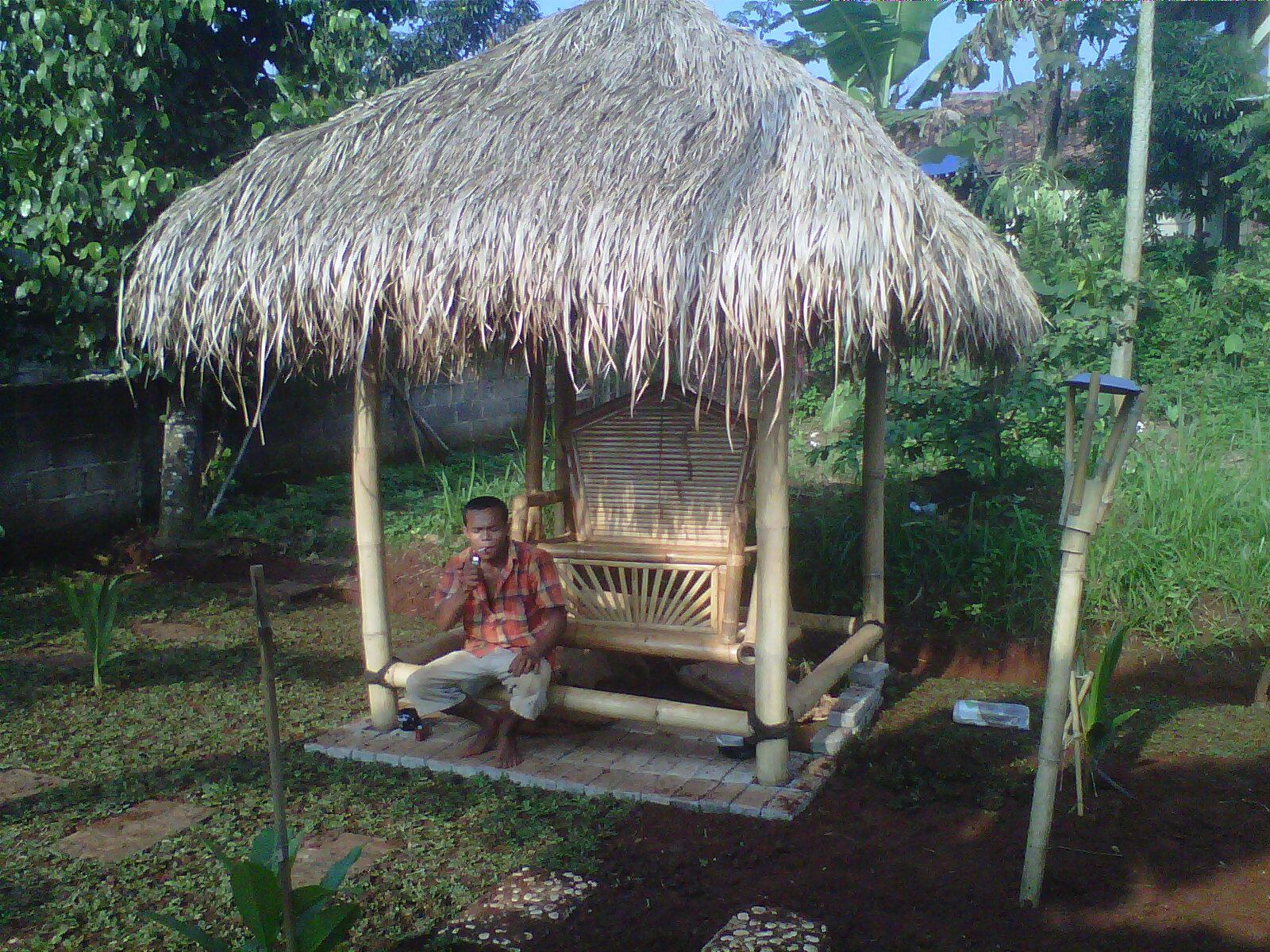 Jual Saung Bambu Tukang Saung Bambu Tukang Saung Bambu
