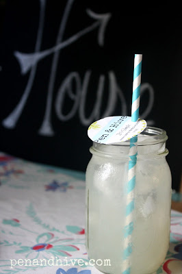 paper straw and mason jar