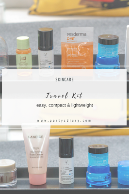 Skincare | Travel kit -  How to keep your routine while travelling, in a compact, easy and lightweight way!