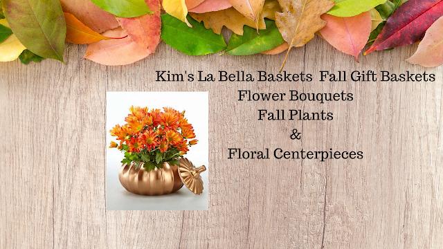Kim's La Bella Baskets Fall Gift Ideas Thanksgiving Fall Flower Arrangements