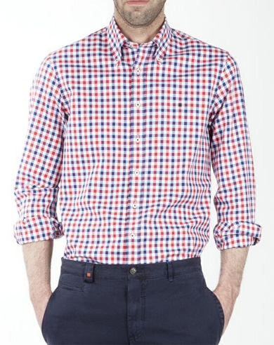 Camisa de cuadros en blanco bb47e2dfb83
