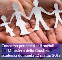concorso per assistenti sociali ministero giustizia