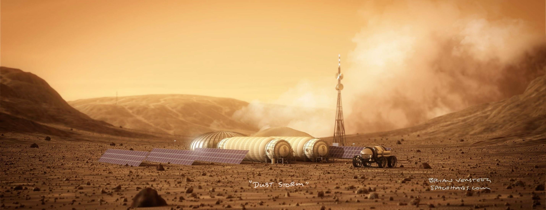 human Mars: Mars base by Bryan Versteeg