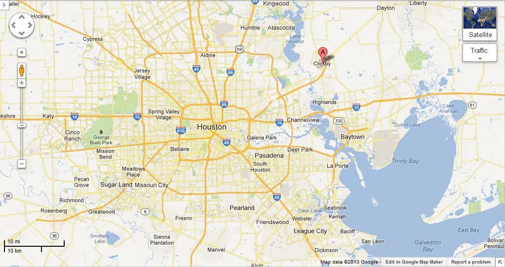 Crosby Texas Map Business Ideas 2013