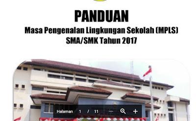 Panduan MPLS SMA SMK Tahun 2017 (Masa Pengenalan Lingkungan Sekolah)