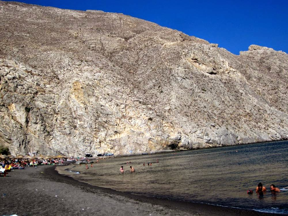 Perissa Beach in Santorini