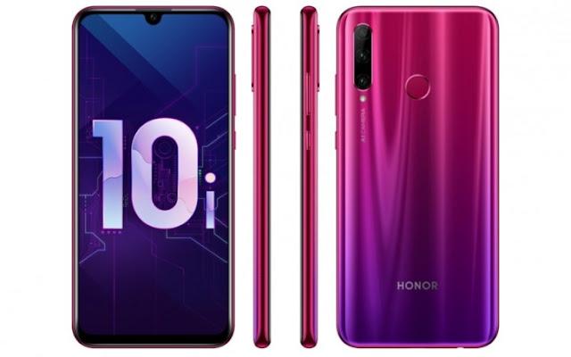 تسريب مواصفات وصور هاتف Honor 10i بثلاث كاميرات خلفية