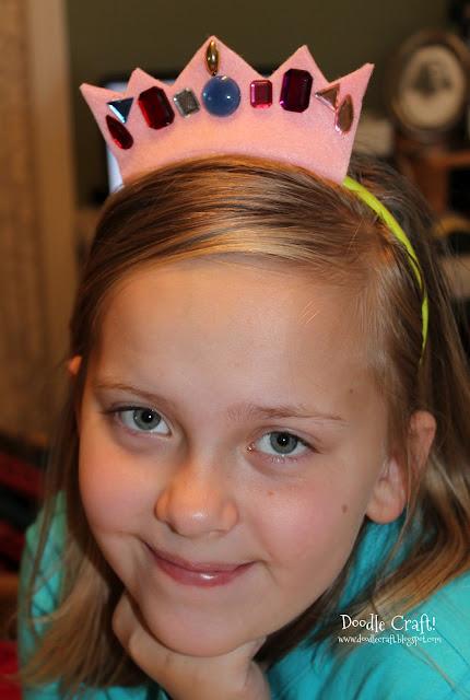 http://www.doodlecraftblog.com/2012/05/dollar-store-felt-crowns.html