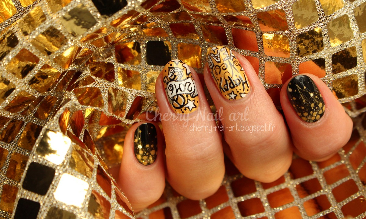 nail art nouvel an 2016