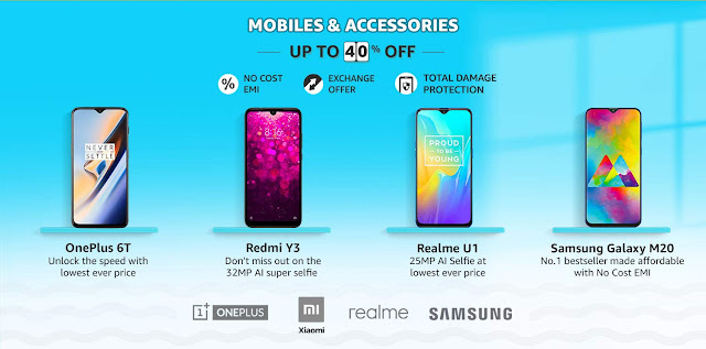 121a1a9c24a0b6 Make the best of this Amazon Summer 2019 sale, with the best of best Offers  on popular mobile phones. Sale start 12 noon on 3rd May for Prime members,  ...