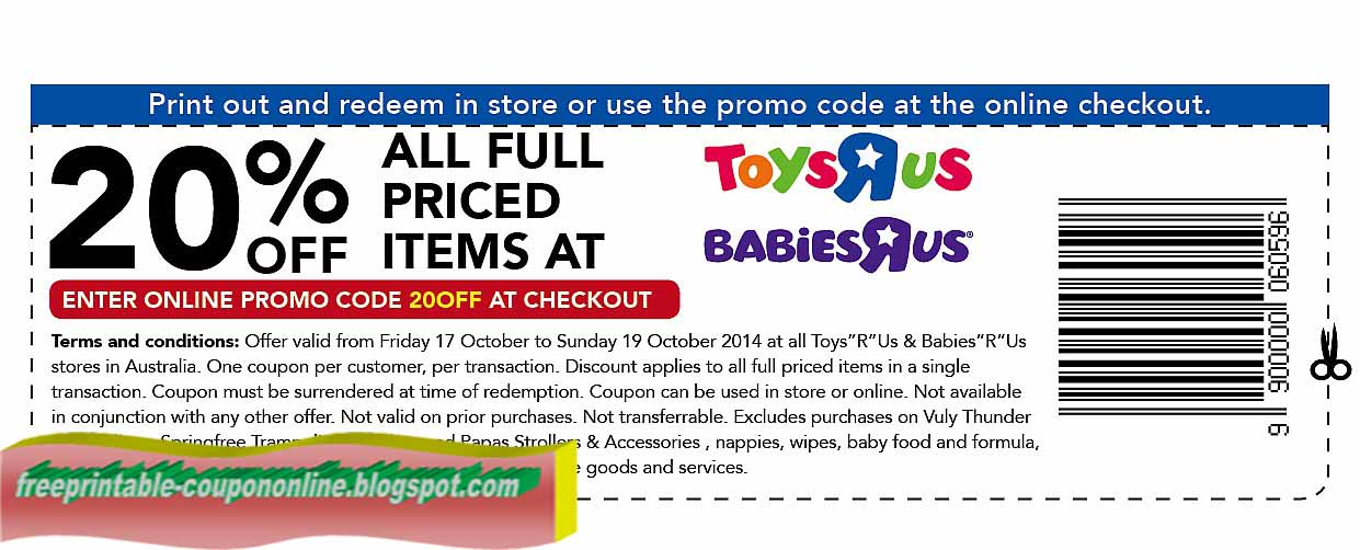 Toys r us coupons november 2018 printable