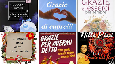 Various thank-you phrases in Italian