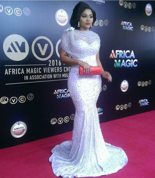 Mercy Aigbe amvca 2016 red carpet dress