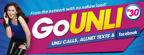 GOUNLI - Unli Calls, AllNet Texts and Facebook - Globe
