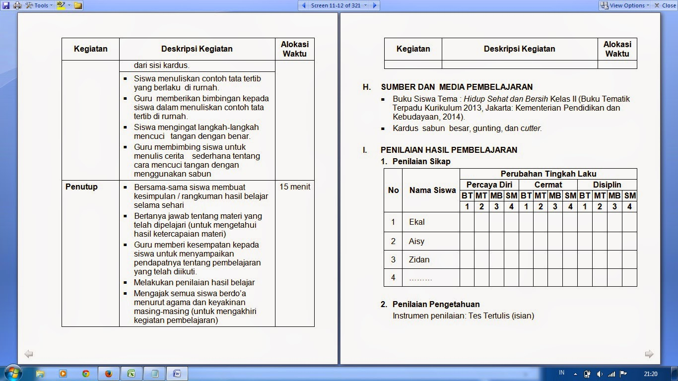 Contoh Deskripsi Raport Sd Contoh 37