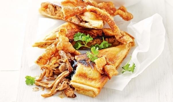Use your pork leftovers in a jaffle