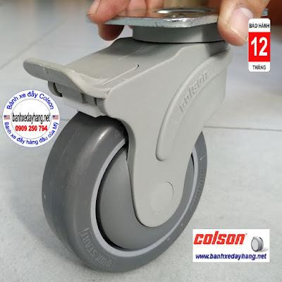 Bánh xe cao su lăn êm không ồn Colson Mỹ 4 inch | STO-4856-448BRK4 www.banhxedayhang.net