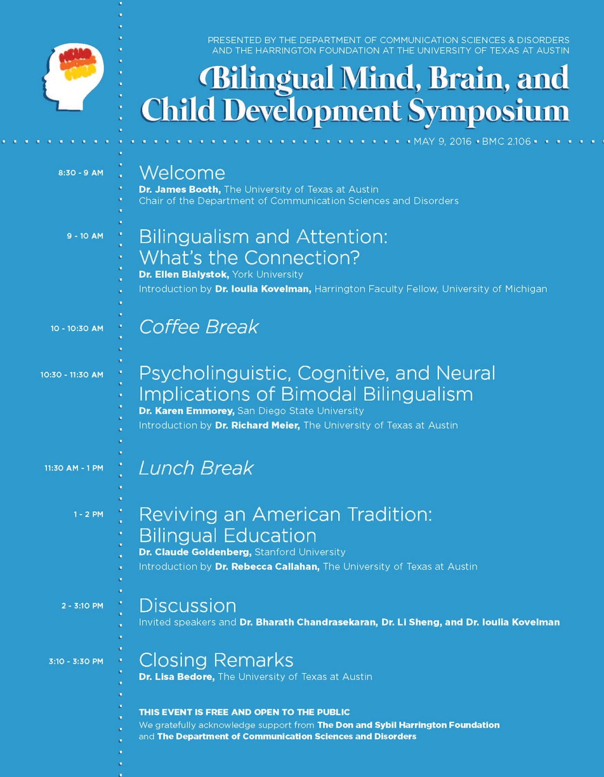 bilingual mind brain child development symposium at ut bmc 2106 auditorium free and open to the public
