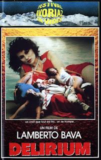 jaquette vhs française de DELIRIUM (LE FOTO DI GIOIA), thriller érotique de Lamberto Bava avec Serena Grandi