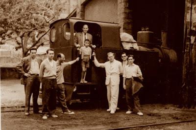 Los ajedrecistas Albareda, Ridameya, Bas, Ribera, García-Orús, Pere Puig y Sánchez en 1956