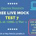 SSC CGL / CHSL Tier-1 Free Live Mock Test 7