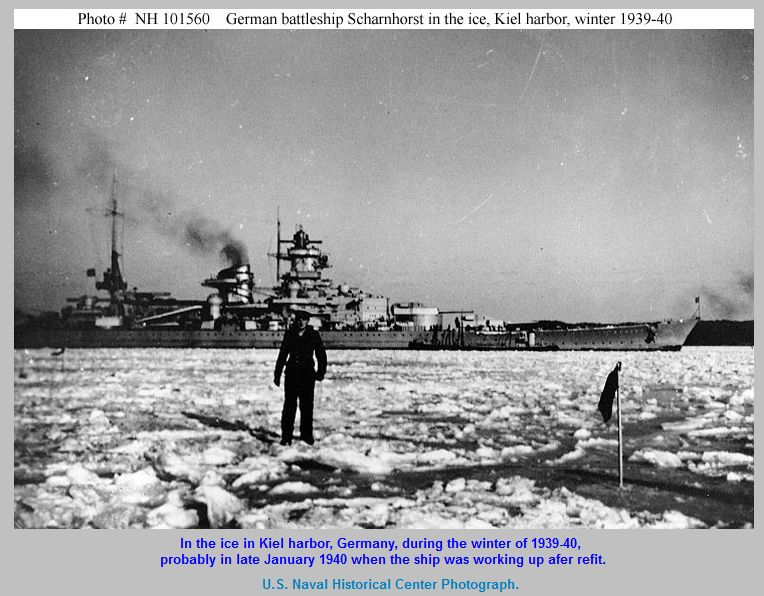 17 January 1940 worldwartwo.filminspector.com Scharnhorst Kiel harbor