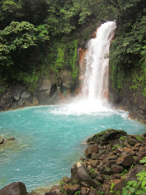 Catarata del Rio Celeste en Costa Rica