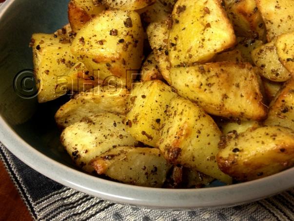Potatoes Panch Phoran, with fenugreek