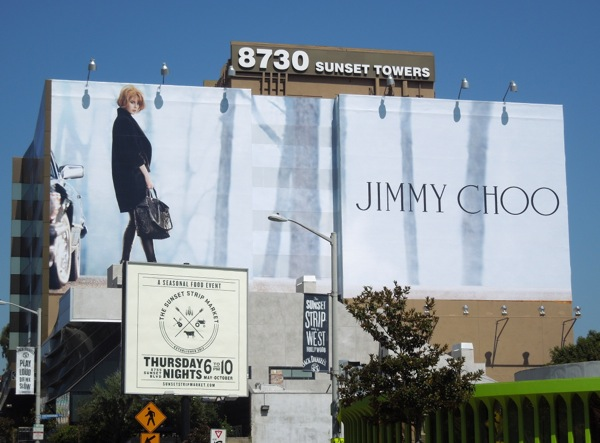 Giant Nicole Kidman Jimmy Choo billboard