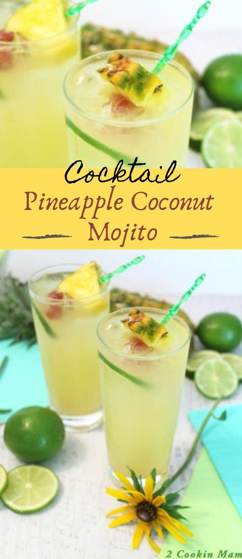 Pineapple Coconut Mojito #healthydrink #easyrecipe