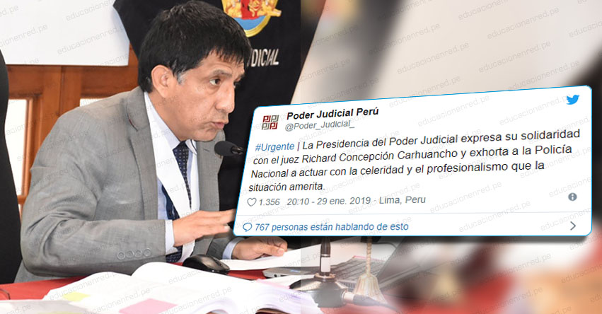 Juez Concepción Carhuancho denuncia desaparición de su hija de 13 años