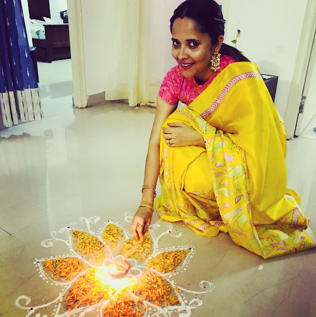 Anasuya bharadwaj Diwali celebrations 2017 photos