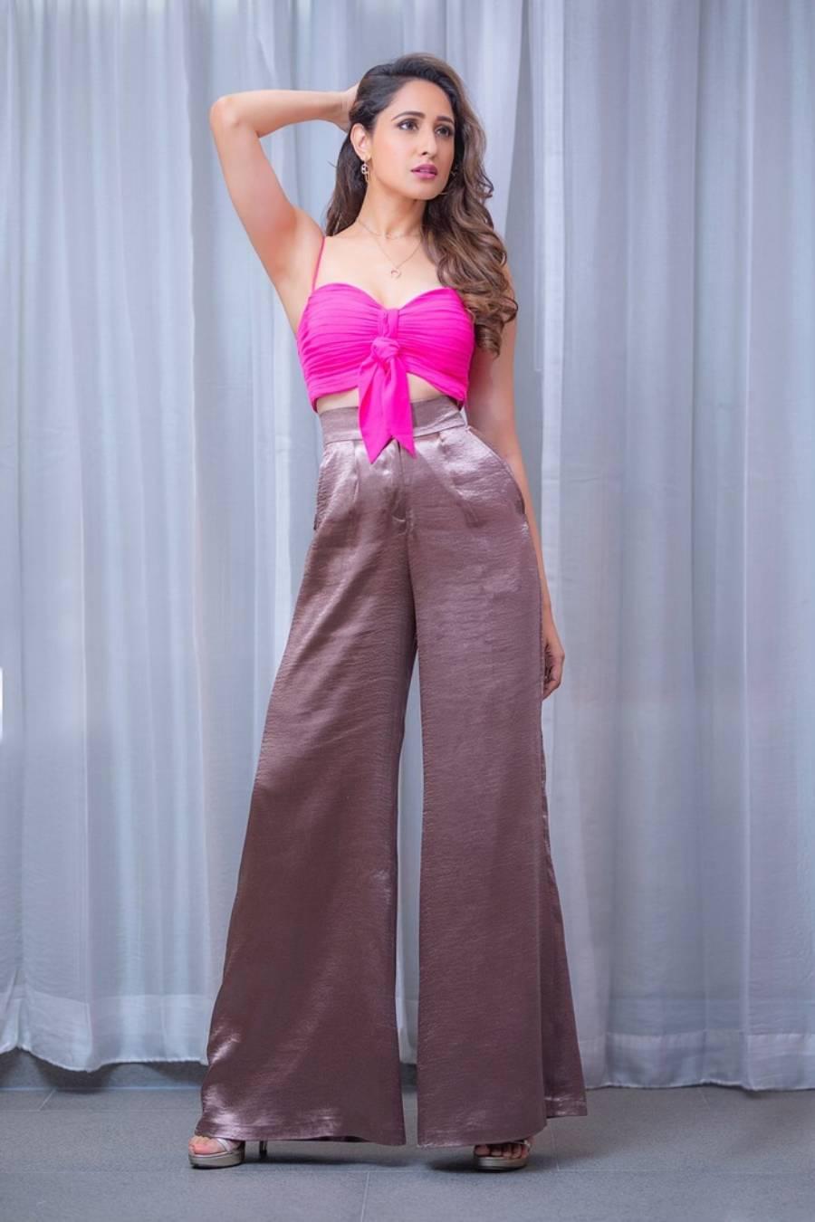 South Indian Girl Pragya Jaiswal Photoshoot In Hot Pink Top
