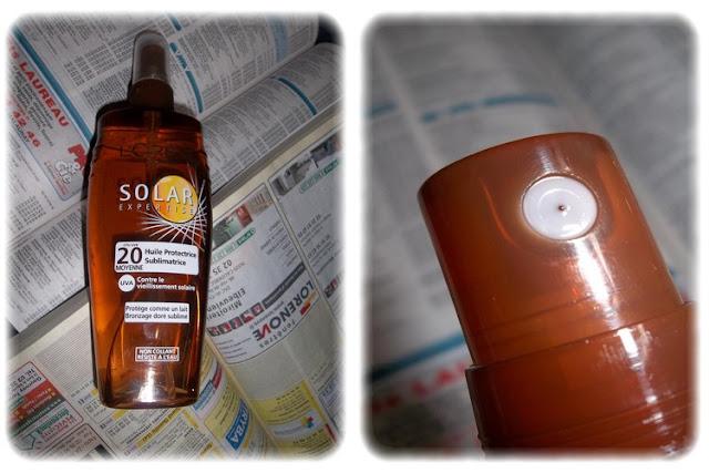 Huile Protectrice Sublimatrice FPS/UVB 20 Solar Expertise - L'Oréal Paris - My Little Box Juillet 2012