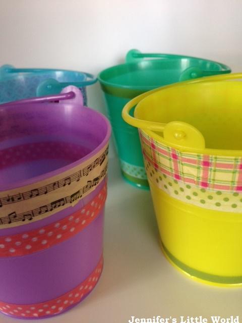 jennifer 39 s little world blog parenting craft and travel On decorating plastic buckets