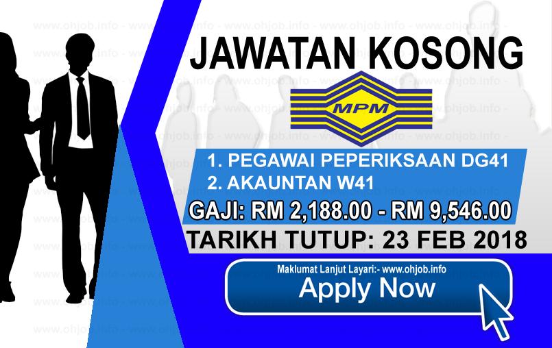 Jawatan Kerja Kosong Majlis Peperiksaan Malaysia - MPM logo www.ohjob.info februari 2018