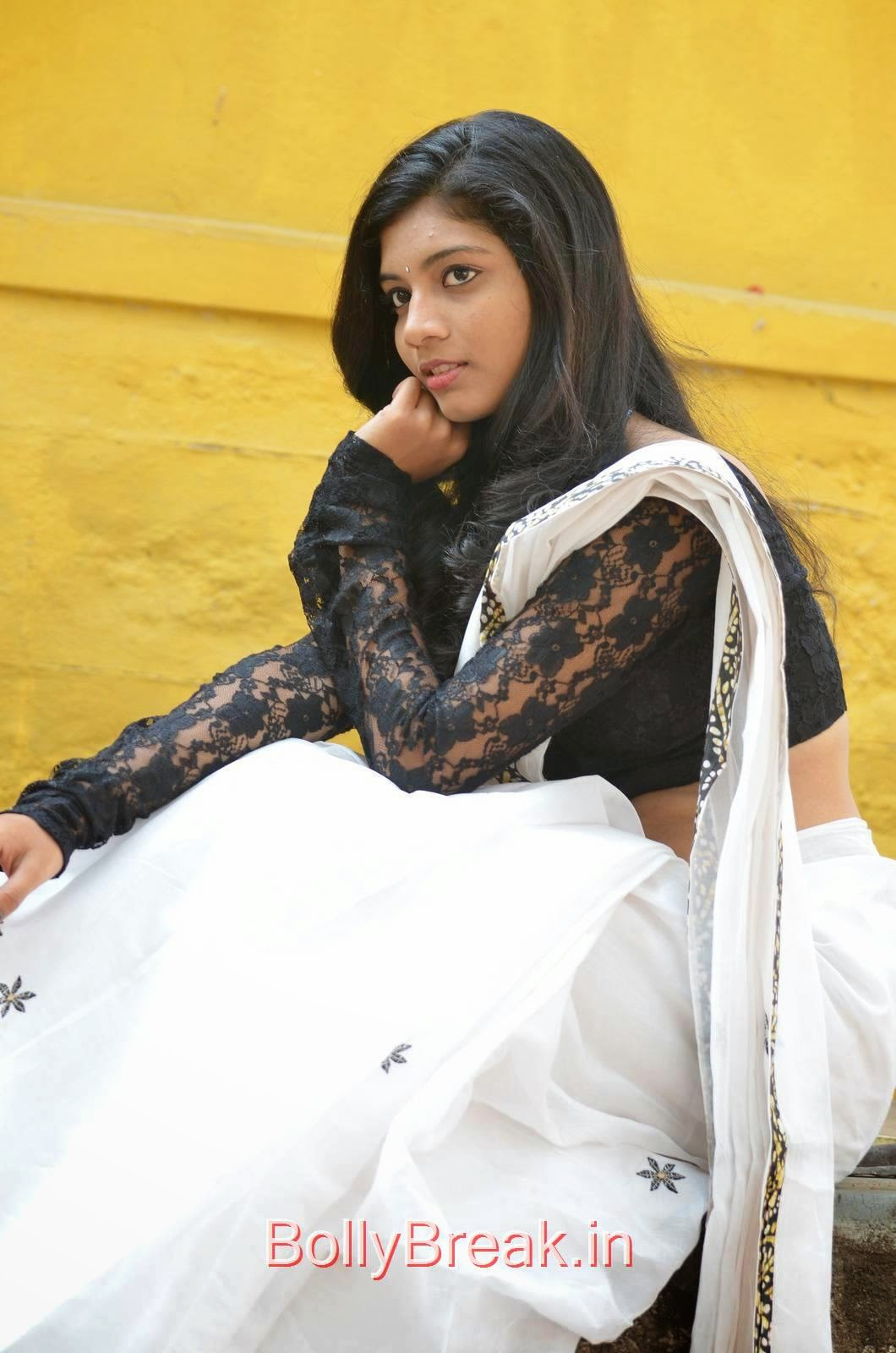 Tollywood Actress Bindu, Bindhu Latest Hot Pics In White Saree
