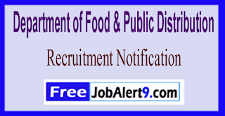 DFPD Department of Food & Public Distribution Recruitment Notification 2017  Last Date 29-05-2017