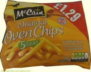 Diets and Calories: McCain Original Straight Cut Oven Chips