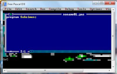 Menu-menu pada Free Pascal dan Fungsinya